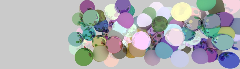 Path traced spheres